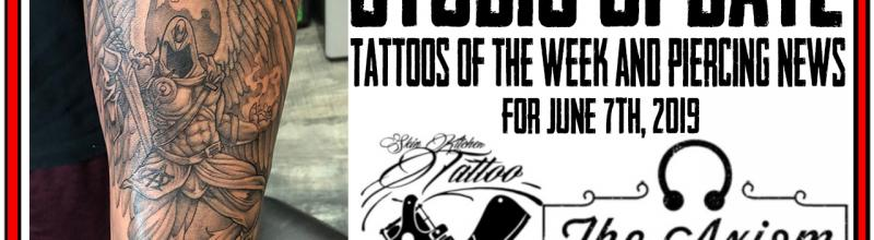 Tattoos of the Week from Jack and Westley and Piercing & Content News from DaVo - Studio Update Video for June 7th, 2019