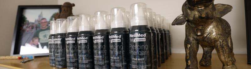 now stocking Neilmed Piercing Aftercare Sterile Saline Spray