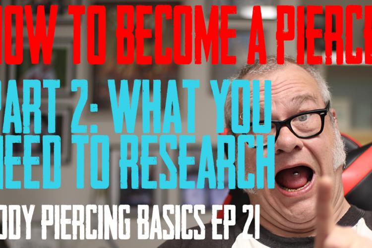 The Second Episode in DaVo's How to Become a Piercer. In this episode he covers what to research and do to prepare for an apprenticeship Body Piercing Basics EP 21 - https://youtu.be/D8faq3K6LFo