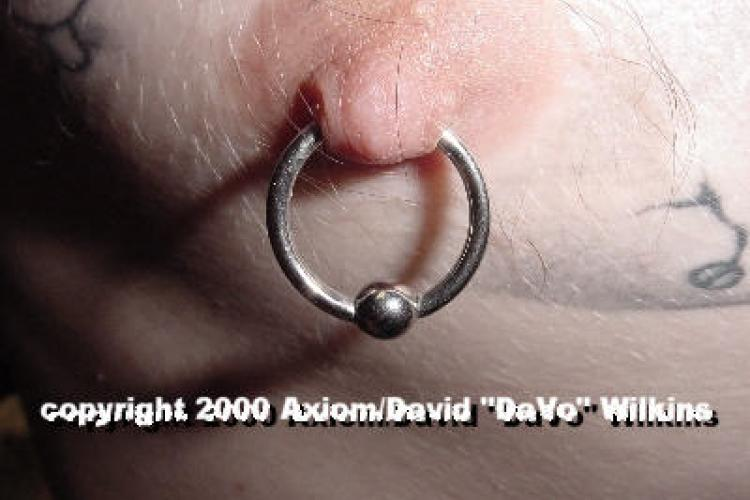 Male Nipple Piercing