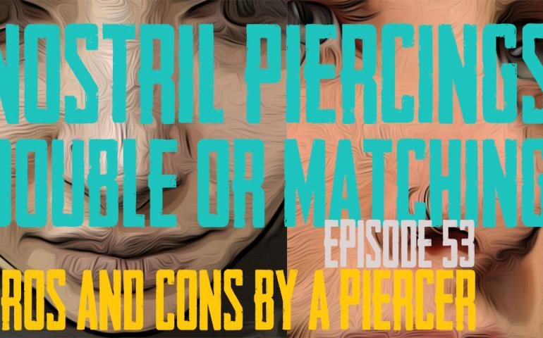Nostril Piercings Two on One side or one on each side? Pros & Cons by a Piercer EP 53 - https://youtu.be/FkwSmpEnmC8