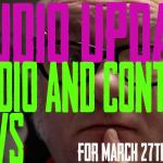 Studio Update for March 27th, 2020 - https://youtu.be/LoikGJJ7mf8