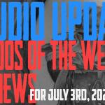 Tattoos of the Week from Westley and Jimmy, Piercing and Content News from DaVo - Studio Update for July 3rd, 2020 #103 - https://youtu.be/Ada7scuLdD8