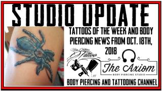Tattoos of the Week, Body Piercing News and SKT Tattoo merchandise - The Studio Update for Oct. 19, 2018
