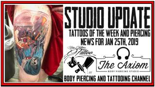 Tattoos of the Week from Jack Lowe, Westley Dickerson and Michelle of Velvet Lotus and Piercing News - Studio Update for Jan 25th,  2019