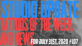 Jack, Westely, and Jimmy's Tattoos of the Week and DaVo with the latest Piericng and Content News - Studio Update for July 31, 2020 #107 - https://youtu.be/WdDm6QcGO_Y
