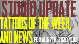 Tattoo of the Week from Westley and Piercing & Content News by DaVo - Studio Update for Aug 7th, 2020 - https://youtu.be/efU73FkMRDU