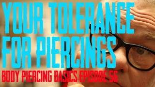 DaVo talks about the first piercing and how much your body's tolerance for piercings plays in the healing - Body Piercing Basics EP 57 - https://youtu.be/Ui_gZgn2UDw