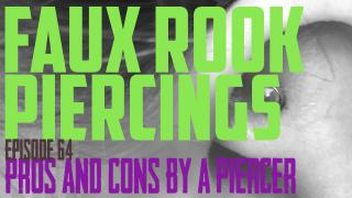 Faux Rook Piercings Pros & Cons by a Piercer EP64 - https://youtu.be/9JKtHL8XltE