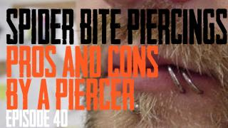 Spider Bite Piercings Pros & Cons by a Piercer EP 40 - https://youtu.be/HiAaThlzpWM