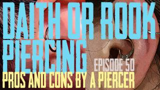 Which should you get? A Daith Piercing or a Rook Piercing? Pros & Cons by a Piercing EP 50 - https://youtu.be/RoyG5YhxaQo