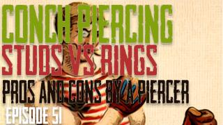 Conch Piercing, Should you piercing with a ring or a stud? Pros & Cons by a Piercer EP 51 - https://youtu.be/ksM1tCgd3Hk
